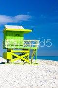 Cabin on the beach, Miami Beach, Florida, USA Kuvituskuvat