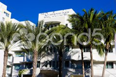 The Art Deco District, Miami Beach, Florida, USA Stock Photos
