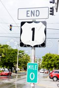 End of the road number 1, Key West, Florida, USA Stock Photos