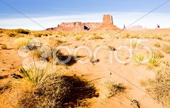 The Mitten, Monument Valley National Park, Utah-Arizona, USA Stock Photos