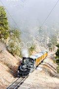 Durango   Silverton Narrow Gauge Railroad, Colorado, USA Stock Photos