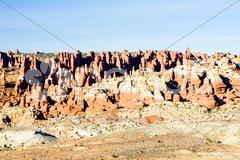 Fiery Furnace, Arches National Park, Utah, USA Stock Photos