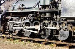 Detail of steam locomotive, Colorado Railroad Museum, USA Stock Photos