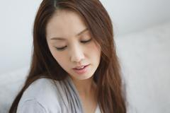 Young attractive Japanese woman portrait Stock Photos