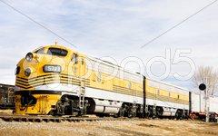 Diesel locomotive, Colorado Railroad Museum, USA Stock Photos