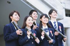 Japanese high school graduation ceremony Stock Photos