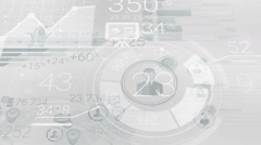 Clear Gray Corporate Background With Abstract Elements Of Infographics Stock Footage