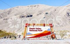 Entrance, Death Valley National Park, California, USA Stock Photos