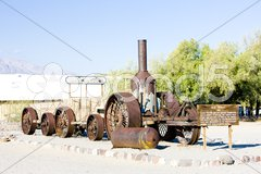 Steam machine, Furnace Creek, Death Valley National Park, California, USA Stock Photos