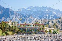 Furnace Creek Inn, Death Valley National Park, California, USA Stock Photos
