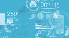 Blue Corporate Background With Abstract Elements Of Infographics Stock Footage