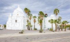 Immaculate Conception Church, Ajo, Arizona, USA Stock Photos