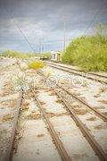 Overgrown tracks, Arizona, USA Stock Photos