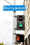 Semaphore, Hollywood, Los Angeles, California, USA Stock Photos