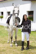 Equestrian with horse Stock Photos