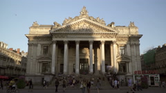The famous Stock Exchange Building in Brussels, Belgium Stock Footage