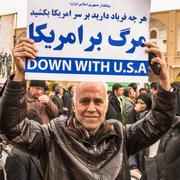 Annual revolution day in Esfahan, Iran Stock Photos