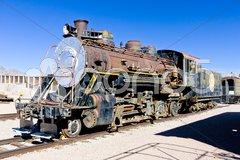 Steam locomotive, Nevada, USA Stock Photos