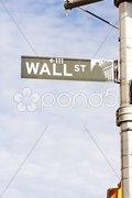 Wall Street Sign, , New York City, USA Stock Photos