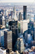 View of Manhattan from The Empire State Building, New York City, USA Stock Photos
