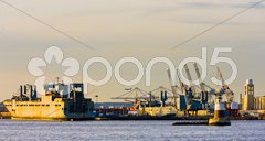 Port in Upper New York Bay, USA Stock Photos