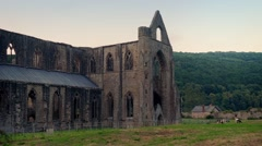 Historic Abbey Ruins In Countryside Stock Footage