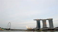 Singapore 50 years National Day rehearsal, fighter formation flew over the city Stock Footage