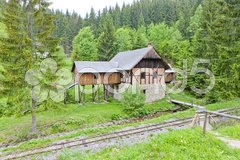 Old saw mill, Museum of Kysuce village, Vychylovka, Slovakia Stock Photos
