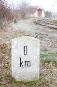 Zero kilometer Stock Photos