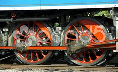 Detail of steam locomotive called Parrot (477.043), depot Luzna u Rakovnika, Cze Stock Photos