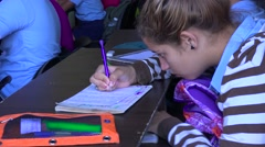 Students study in a classroom in Cuba. Stock Footage