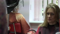 Woman talk with her personal hair stylist while making haircut. 4K Stock Footage