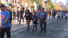 Labor day parade in Toronto Stock Footage