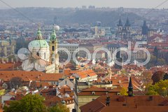 St. Nicholas church, Prague, Czech Republic Stock Photos