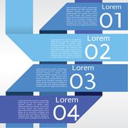 Abstract blue banners vector in four step.EPS10 Stock Illustration