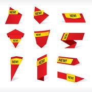 10 New label vector.EPS10 Stock Illustration