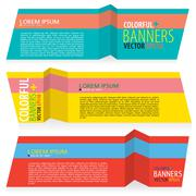 Colorful banners vector.EPS10 Stock Illustration