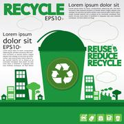 Recycle illustration concept vector.EPS10 Stock Illustration