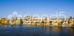 Prague Castle with Charles bridge, Prague, Czech Republic Stock Photos