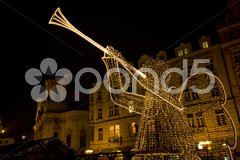Old Town Square at Christmas time, Prague, Czech Republic Stock Photos