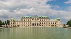 Belvedere Palace timelapse, Vienna, Austria, 4K Time lapse Stock Footage