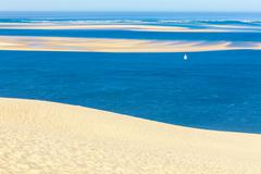View from Dune of Pyla, Arcachon Bay Stock Photos