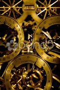 Detail of horologe in Cathedral Notre Dame, Strasbourg, Alsace, France Stock Photos
