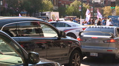 Colossal Toronto downtown traffic jam and gridlock Stock Footage