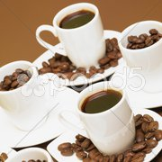 Cups of coffee Stock Photos