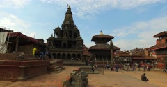 Walk on Durbar Sqaure in Patan, Lalitpur city, Nepal. Stock Footage