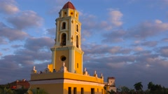 A beautiful time lapse shot of the Church Of The Holy Trinity in Trinidad, Cuba. Stock Footage