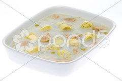 Aspic with chicken meat and artichokes Stock Photos