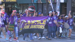 Union workers in labor movement Stock Footage