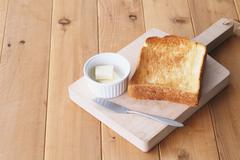 Bread and butter Stock Photos